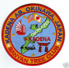 USAF BASE PATCH, KADENA AB OKINAWA, BANYAN TREE CLUB                           Y
