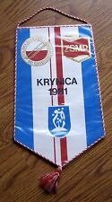 f906 Poland Krynica 1981 IV . youth sports toboggan Winter Games pennant