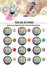 12 PC Mia Secret PEAR NAIL ART POWDER FOR 3D Acrylic Powder Neon Collection
