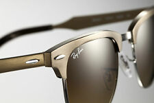Ray-Ban ALUMINIUM CLUBMASTER Brushed Gold Sunglasses RB 3507 139/85 49 MM 35O7