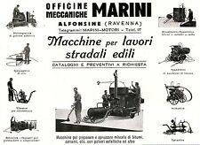 PUBBLICITA' OFFICINE MECCANICHE MARINI MACCHINE PER LAVORI STRADALI ALFONSINE RA