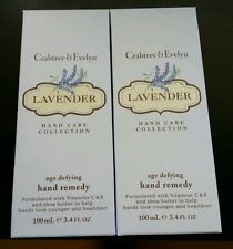 2 Crabtree & Evelyn LAVENDER Age Defying Hand Remedy - 100 ml - MSRP $27 each
