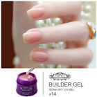 Nail Art Builder UV GEL Choose White Clear Pink Extension Tip Manicure Long Last