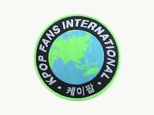 KPOP FANS INTERNATIONAL woven patch badge k-pop for bag hat hoodie iron on