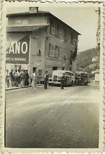 PHOTO ANCIENNE - VINTAGE SNAPSHOT - FRONTIÈRE ITALIE FRANCE BAR AUTOBUS CAR 1936