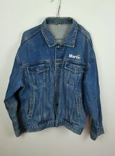 VTG RETRO BLUE TRUCKER DISTRESSED MARTIN OVERSIZED FESTIVAL DENIM JACKET VGC M