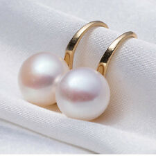 Elegant Freshwater Pearls Women Gold/Silver Plated Dangle Drop Earrings Jewelry