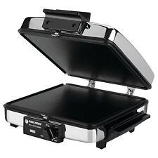 BLACK+DECKER G48TD 3-in-1 Waffle Maker & Indoor Grill/Griddle, Silver (G48TD)