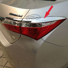 For 2014 TOYOTA Corolla ABS Chrome Tail light lamp Cover Trims