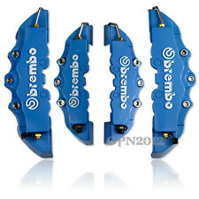 Car 3D Blue Brembo Style Disc Brake Caliper Covers 4pcs Universal Front & Rear