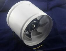 "NEW 6"" Inline Duct Fan Booster Exhaust Blower Air Cooling Vent Metal Blade"