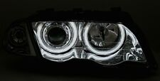 FEUX AV CCFL ANGEL EYES CHROME BMW SERIE 3 E46 1998-2001 TOURING 316i 320i 328i