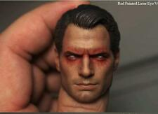Custom Henry Cavill Red Eyes 1/6 Head Sculpt for Hot Toys Superman 2.0 Body