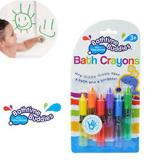 6pcs Baby Kids Children Bathtime Erasable Safety Level Bath Crayon Crayons TO