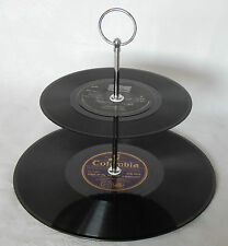 Funky LP Vinyl Record small 2-Tier Mini Cake Stand - Made to order, ideal gift