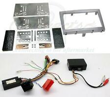 Porsche Boxster Double Din Fitting Kit with Steering and Amplifier Adaptor Grey