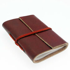 Fair Trade Eco Friendly Handmade Mini Single Bound Plain Leather Notebook