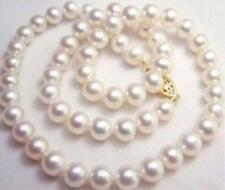 """20"""" 9-10MM PRETTY WHITE SOUTH SEA AAA++ PEARL NECKLACE 14KT"""