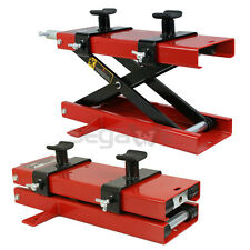 Used 1100LB Mini Scissor Lift Jack ATV Motorcycle Dirt Bike Scooter Crank Stands