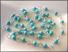 *PI*AAA SLEEPING BEAUTY TURQUOISE wrap .925 Sterling Silver Necklace! Sundance