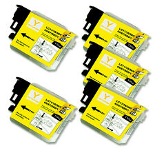 5 YELLOW Ink Cartridge for Series LC61 Brother MFC J410w J415w J615W 5890CN