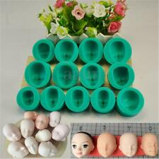 13 Styles Silicone Mould Doll's Face Sugarcraft Cake Decorating Fondant Set