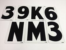 """6"""" Acrylic Wagner Marquee Sign Black Changeable Zip Letters & Numbers 100 Set"""