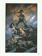 "1996 Full Color Plate "" Fire & Ice ""by Frank Frazetta Fantastic GGA"
