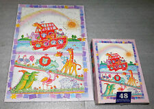 Springbok Hallmark Two by Two Noah's Ark Jigsaw Puzzle 48 Pieces 12x17 Ages 4+