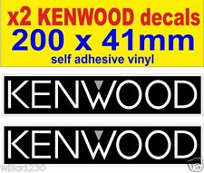 2x kenwood car audio rally race sports car decals van mini bus truck sticker