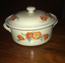 VINTAGE HALL POPPY FLOWERS COVERED CASSEROLE DISH