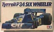 VINTAGE TAMIYA TYRRELL P34 SIX WHEELER 1:20 SCALE GRAND PRIX RACE CAR MODEL KIT