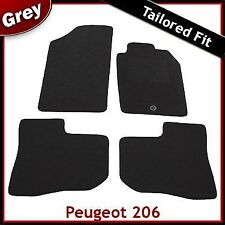 Peugeot 206 1998 - 2008 2009 2010 1-Cip Tailored Fitted Carpet Car Mats GREY