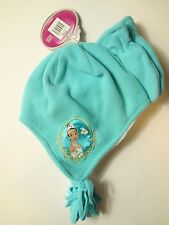 Baby Girls Tiana Princess The Frog Fleece Winter Beanie Hat Mitten Set Toddler