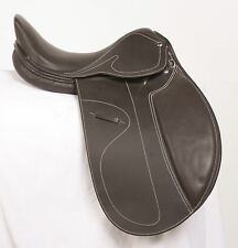 """USED 16"""" BROWN DRESSAGE EVENTING TRAIL ALL PURPOSE ENGLISH HORSE LEATHER SADDLE"""