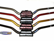 New Renthal Fat bar Handlebars With Pad Trials Bend fatbars 673-01-TT Titanium