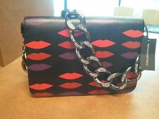 L'WREN SCOTT for Banana Republic Lips Convertible Leather Clutch/Necklace, NWT