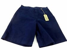 EARNEST SEWN MENS FULTON SHORTS NAVY BLUE 100% COTTON SIZE 31