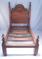 Antique 19thC Victorian Solid Walnut Miniature Bed~Dolls Toy~Salesman's Sample