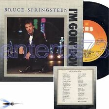 "BRUCE SPRINGSTEEN ""I'M GOIN DOWN"" RARE 45RPM 1986 MADE IN ITALY - MINT"