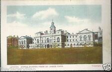 London Horse Guards from St. James Park 1900s?? Unposted Postcard