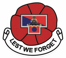 LEST WE FORGET  23RD FIELD REGIMENT RAA LAMINATED VINYL STICKER