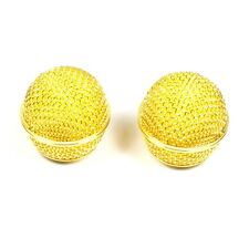 (E21) 2x Mesh Microphone Grille For Shure SM58 Microphone ,Gold Plated USA