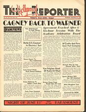 SEPT 28 1932 THE HOLLYWOOD REPORTER movie magazine - CAGNEY BACK TO WARNER