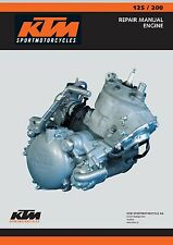 KTM engine service manual 2003 125 SX, 125 EXC, 200 SX, 200 MXC & 200 EXC