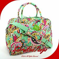NWT VERA BRADLEY QUILTED WEEKENDER TRAVEL BAG FLORAL TUTTI FRUTTI