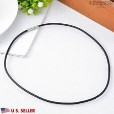 VALYRIA 17.7'' 316L Stainless Steel Women's Black DIY Leather Necklace 3mm USA