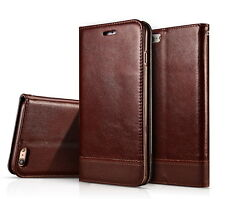 Luxury Leather Wallet Case Magnetic Flip Cover Stand For Apple iPhone 7 6S Plus
