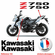 Kit stickers Kawasaki Z750 - Autocollants Carénage Réservoir Decals Tank - 103