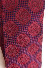 """VTG Longchamps Men's Tie Floral & Cherry Fruit 4""""x 56"""" Blue & Platinum"""